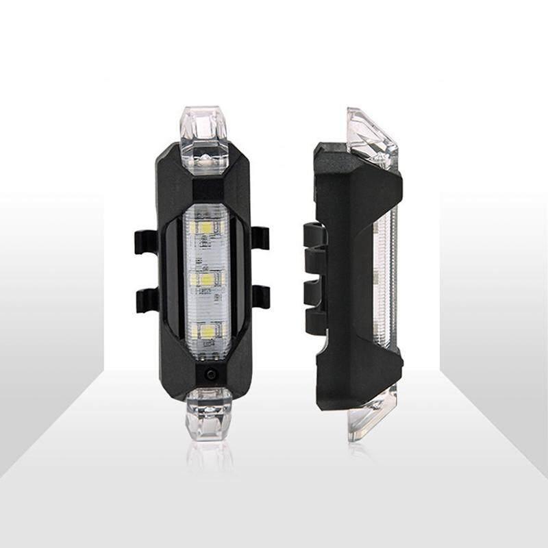 USB Isi Ulang LED Sepeda Ekor Ringan Bersepeda Sepeda Belakang Keamanan Peringatan Lampu-Internasional