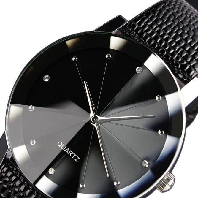 Detail Gambar Luxury Quartz Sport Military Stainless Steel Dial Leather Band Wrist Watch Men - intl Terbaru