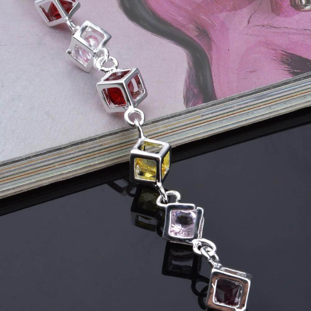 ... Women's Fashion Delicate Silver Plated Crystal Zircon Stone Bracelet Chain Jewelry Gift - intl - 5