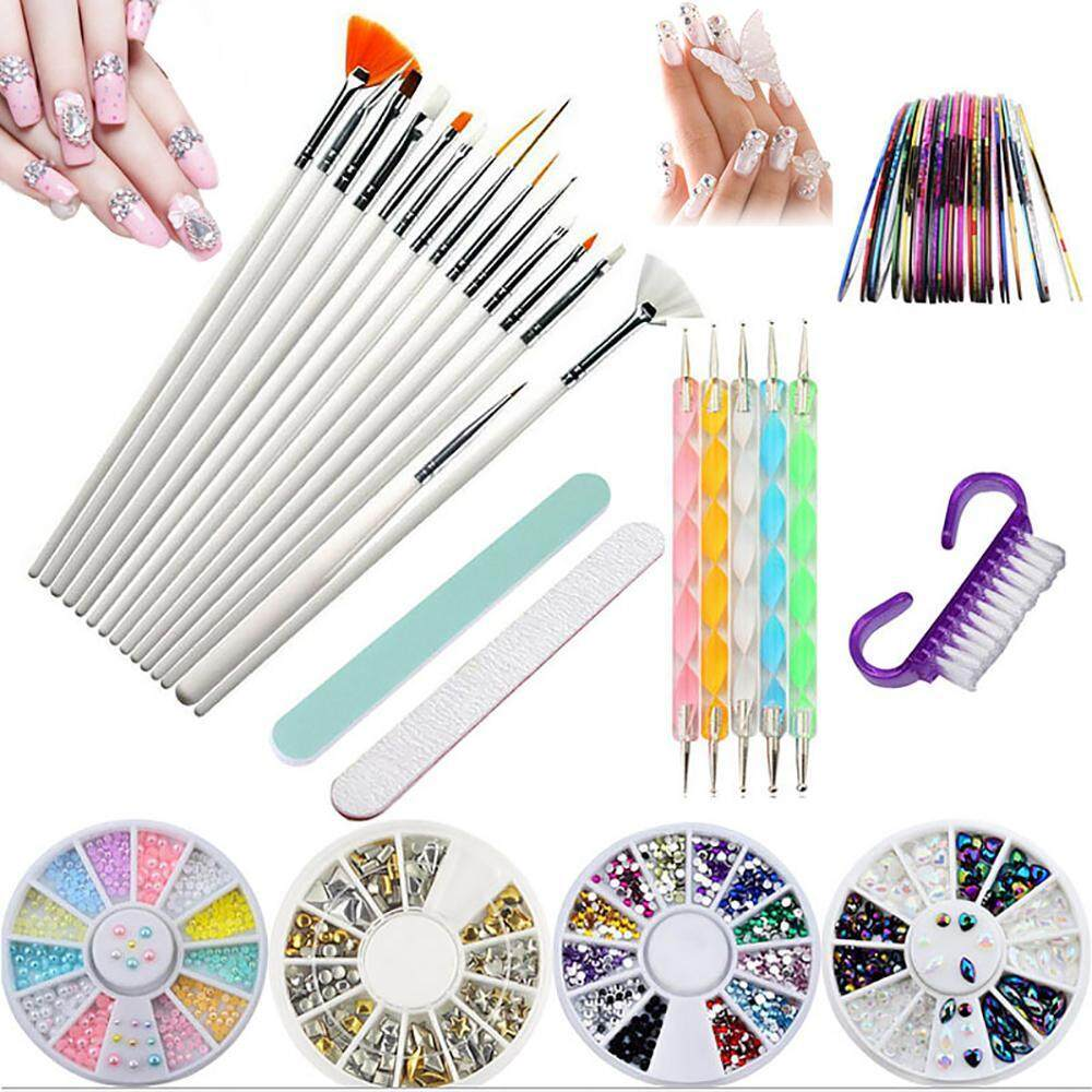 OXOQO Nail Tools Set Beauty Painting Polish Brush Art And Gel Acrylic Drawing Makeup Brush Set With Dotting Tools Philippines