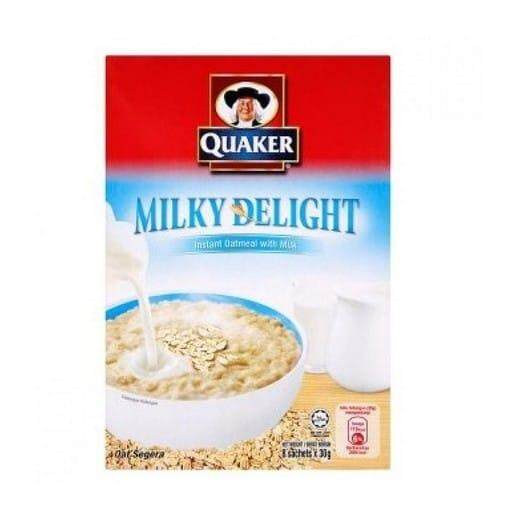 Features Quaker Milky Delight Instant Oatmeal With Milk 8 Sachets X