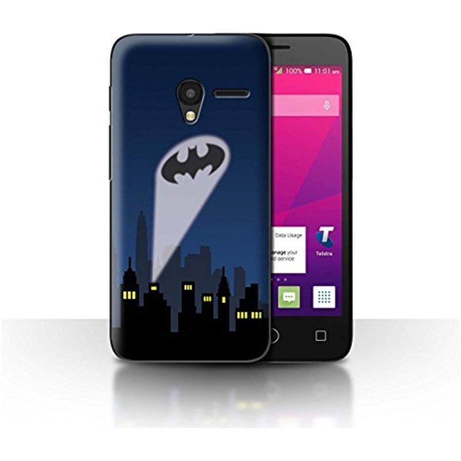STUFF4 Telepon Case/Sarung untuk Alcatel OneTouch Pixi 3 5/Kelelawar-Sinyal Spotlight Desain/Komik Batman koleksi Terinspirasi-Internasional