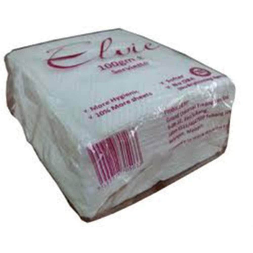 Rivershop Multi-Function ELVIE Serviette Paper Napkin 100g (60pkts/ carton) for Bathroom Restaurant Kitchen Commercial Use