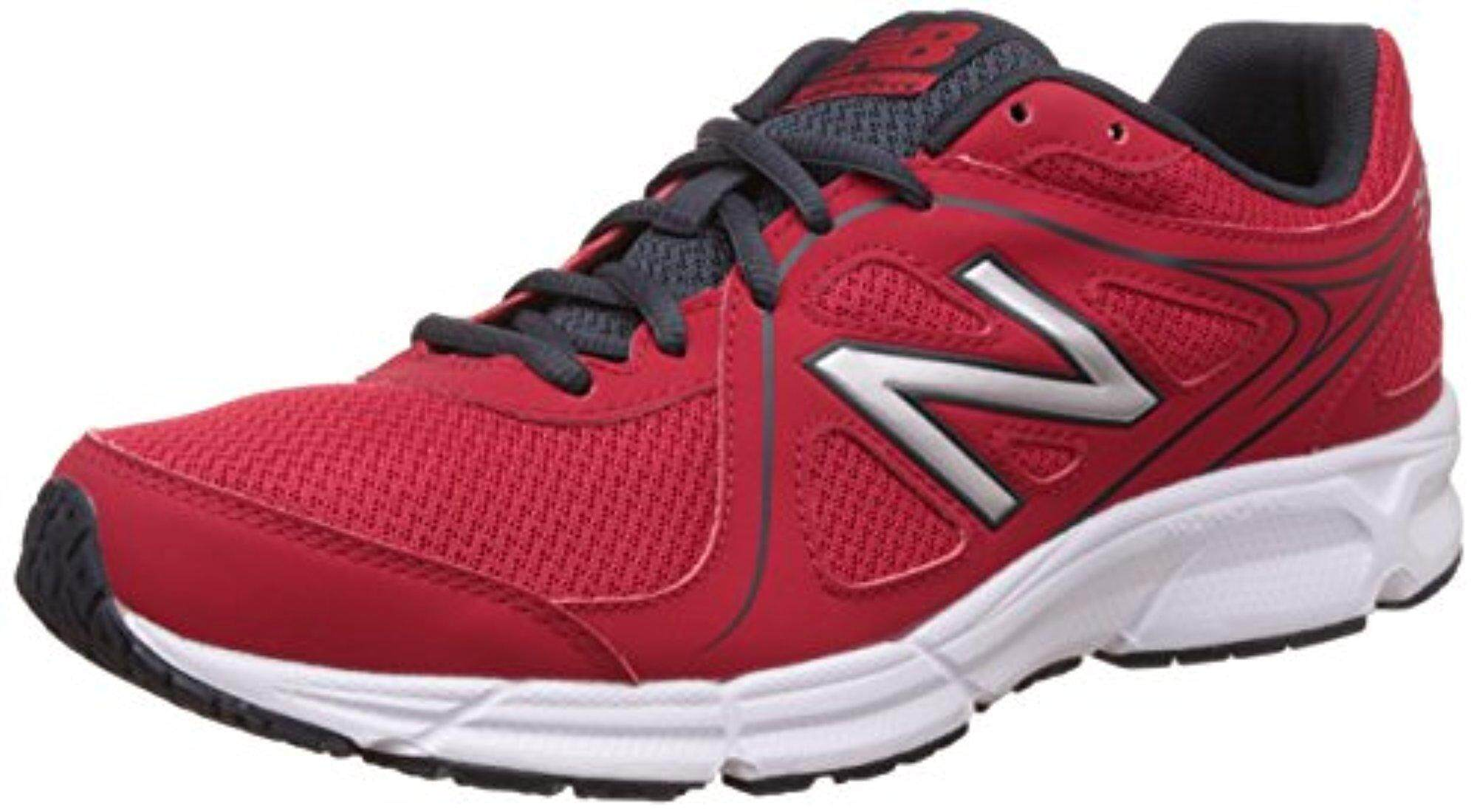 New Balance Men\u0027s 390 V2 Red and Grey Running Shoes