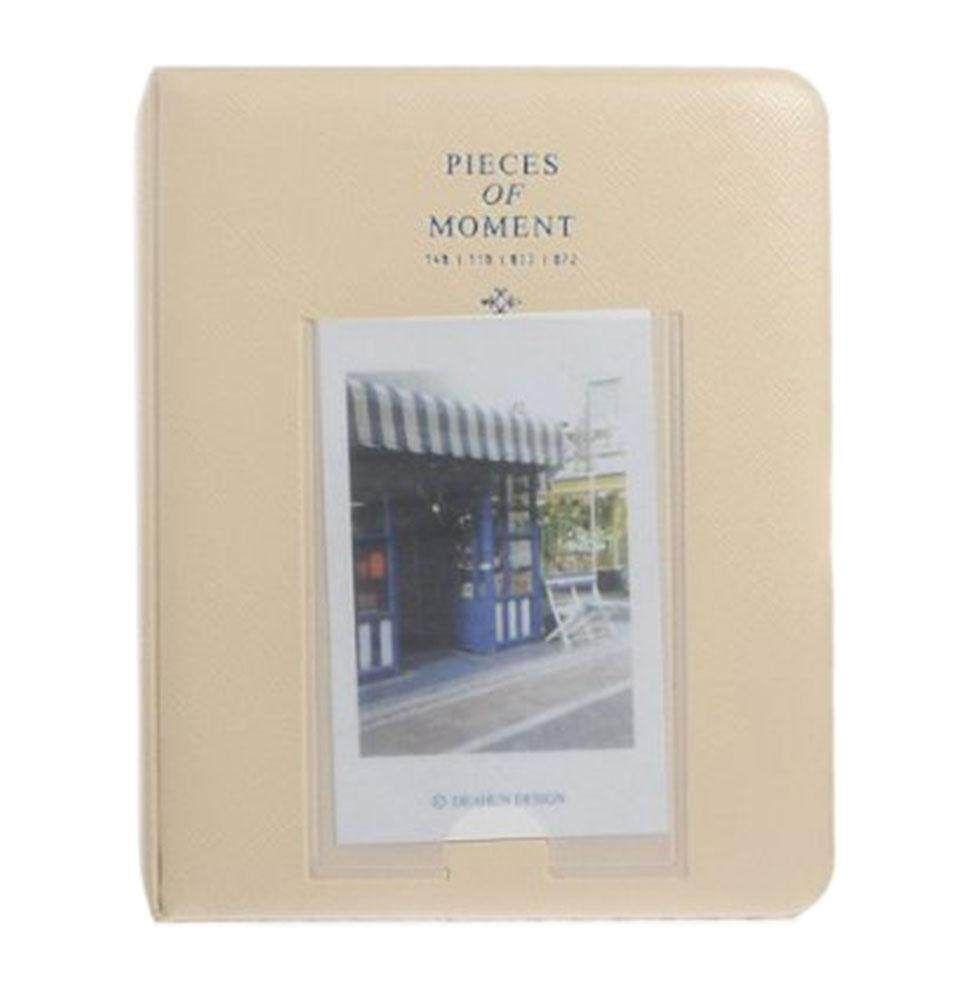 BINLI 65 Pocket PU Cover Frame Front Design Album Photo(Ivory)