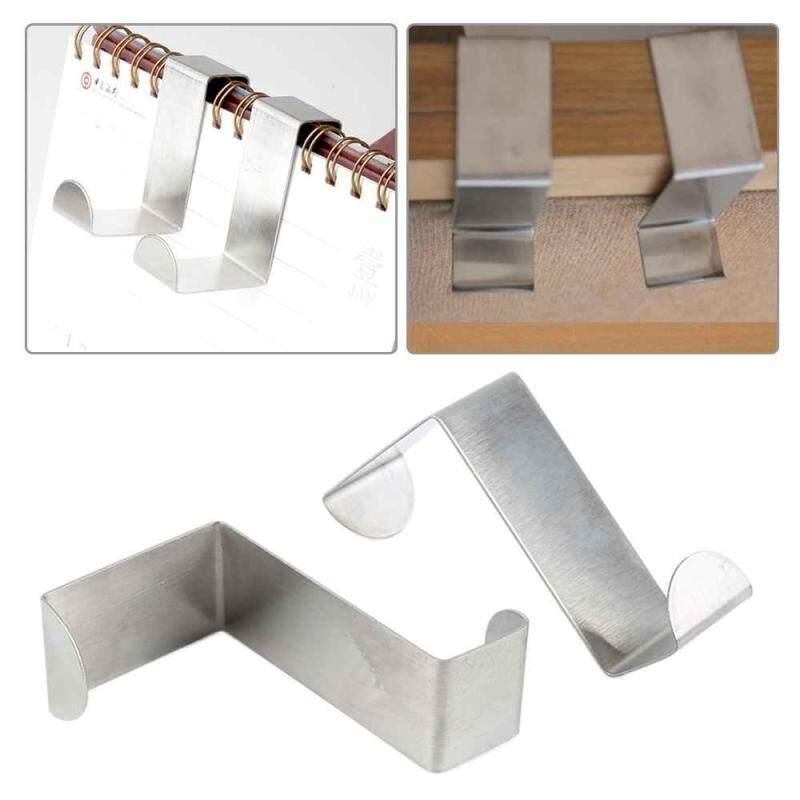 New 2Pcs Stainless steel Multi-purpose Z shape Door Hook Coat Hanger No trace