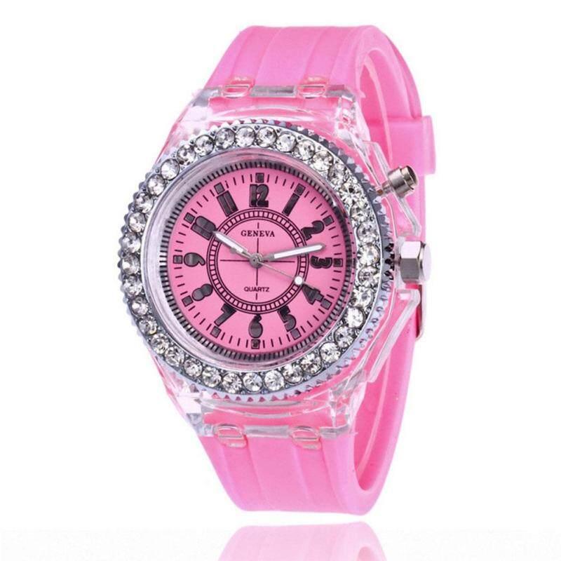 Nơi bán Big Sale Students LED Silicone Diamond Style Wristwatch Digital Scale Quartz Watches Fashion Watch