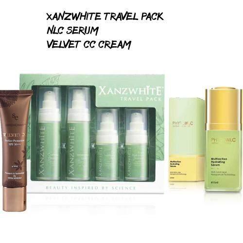Combo Travel Xanzwhite Skincare – Travel Pack Plus 15ml PhytoNLC with CC Cream