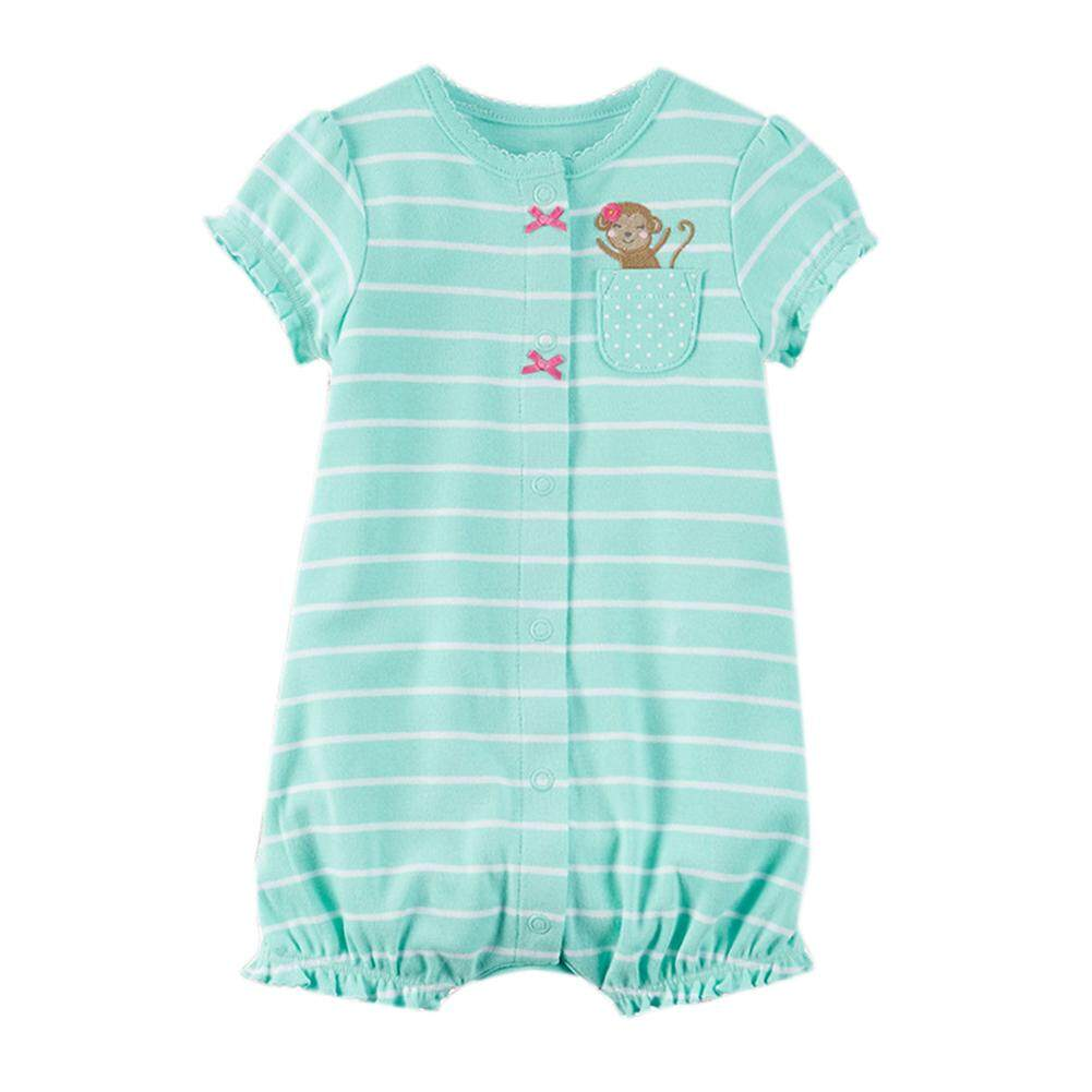 Rd Uni-Sex Baby Snap Up Cotton Short Sleeve Romper Playsuit Outfit By Redcolourful.