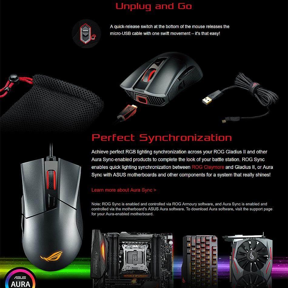 Asus P502 Rog Gladius II Gaming Mouse