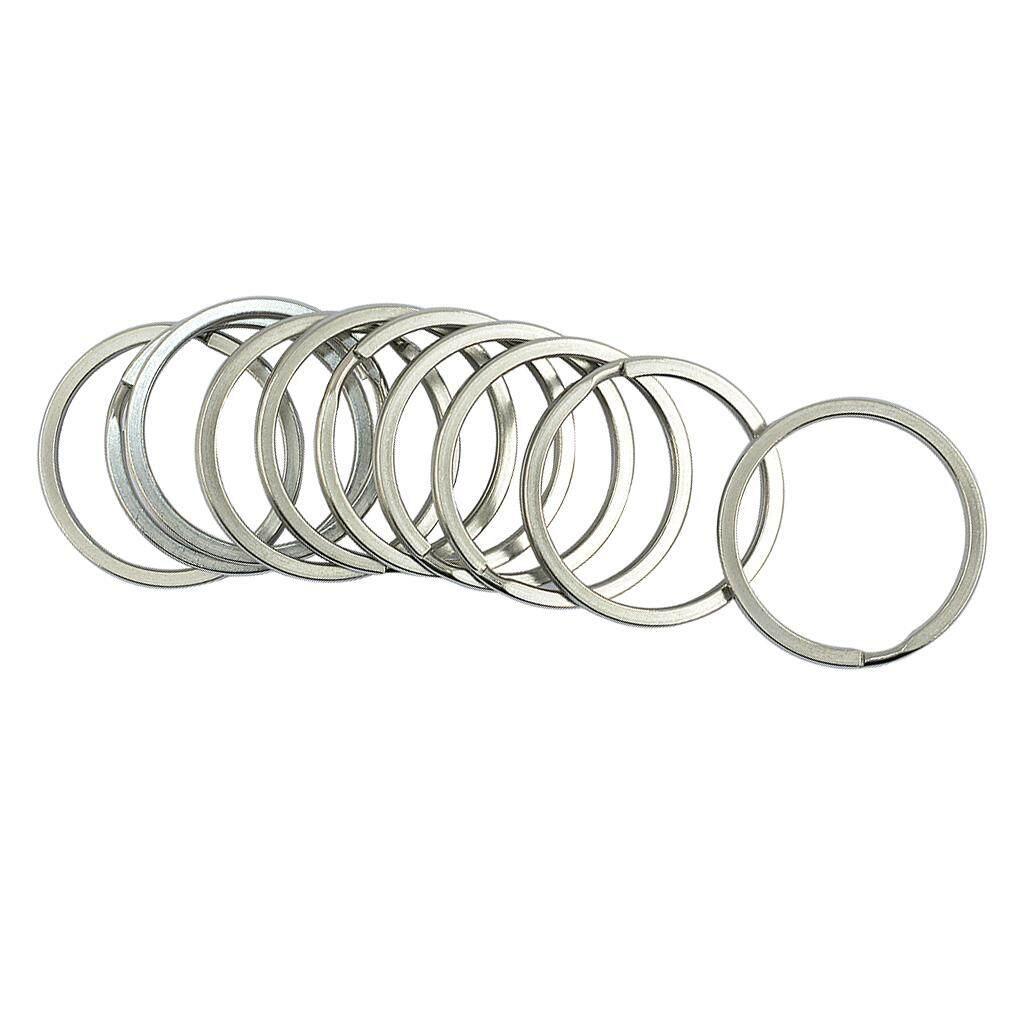 BolehDeals Stainless Steel Round Split Key Rings Chain Clasp Loop Findings DIY 35 mm - intl