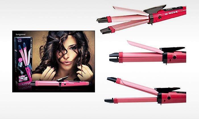 *Mega Sale* Nova 2 in 1 Hair Beauty Set Curl & Straightener Tem