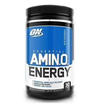 Optimum Nutrition Essential Amino Energy, Blue Raspberry, 30 Servings