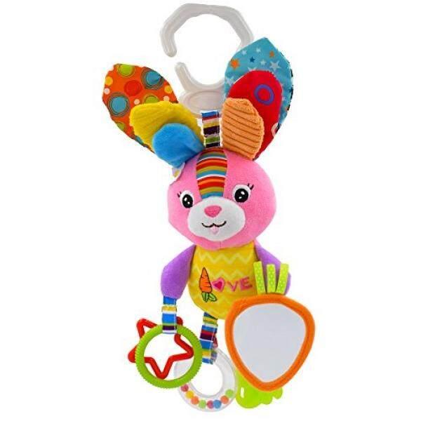 Seprovider Mainan Bayi, Warna Kelinci Bayi Stroller Mainan Bisa Dicuci Berbunyi Nyaring Mainan Mobil, anak-anak Gantungan Mainan untuk Crib dengan Rattle Lingkaran, Cermin untuk Penemuan Diri, Gigi-Internasional