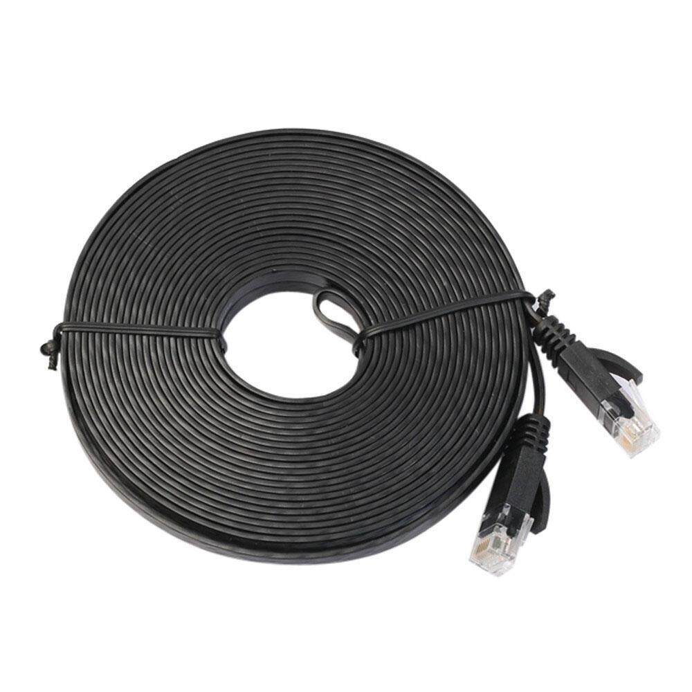 LingTud Ethernet Cable Cat6 Flat with Cable Clips,Network Cable Cat 6 Flat Ethernet Patch