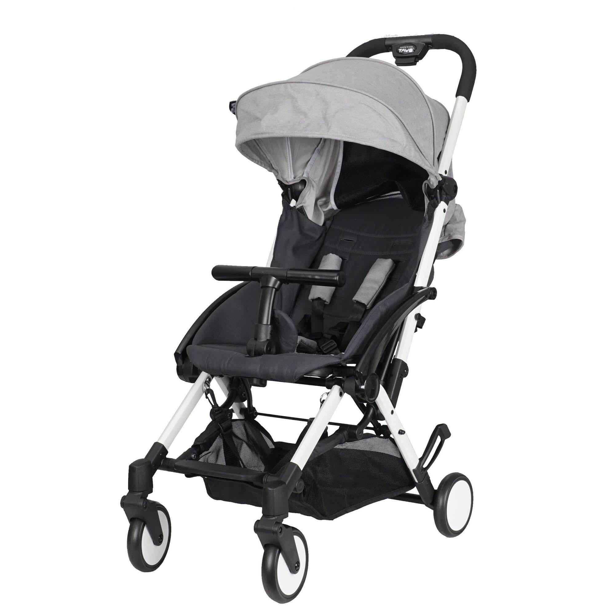 Tavo Amber Stroller Grey (White Frame)