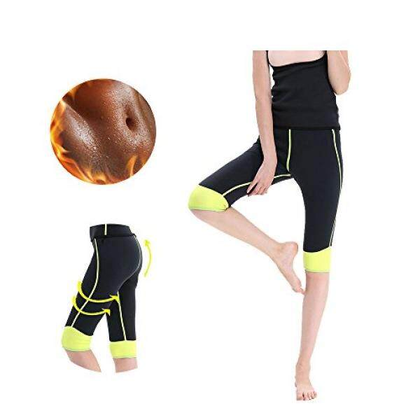 GoldFin Sweat Leggings Neoprene Wetsuit Pants Stretchable Tummy Control Capris Pocket Long Slimming Thermo Hot Body Shapers For Weight Loss BS001 by - intl
