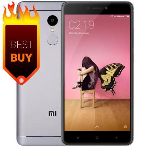 XIAOMI REDMI NOTE 4X 4G PHABLET ANDROID 6.0 5.5 INCH SNAPDRAGON 625 OCTA CORE 2.0GHZ FINGERPRINT SCANNER 5.0MP + 13.0MP CAMERAS (GRAY)
