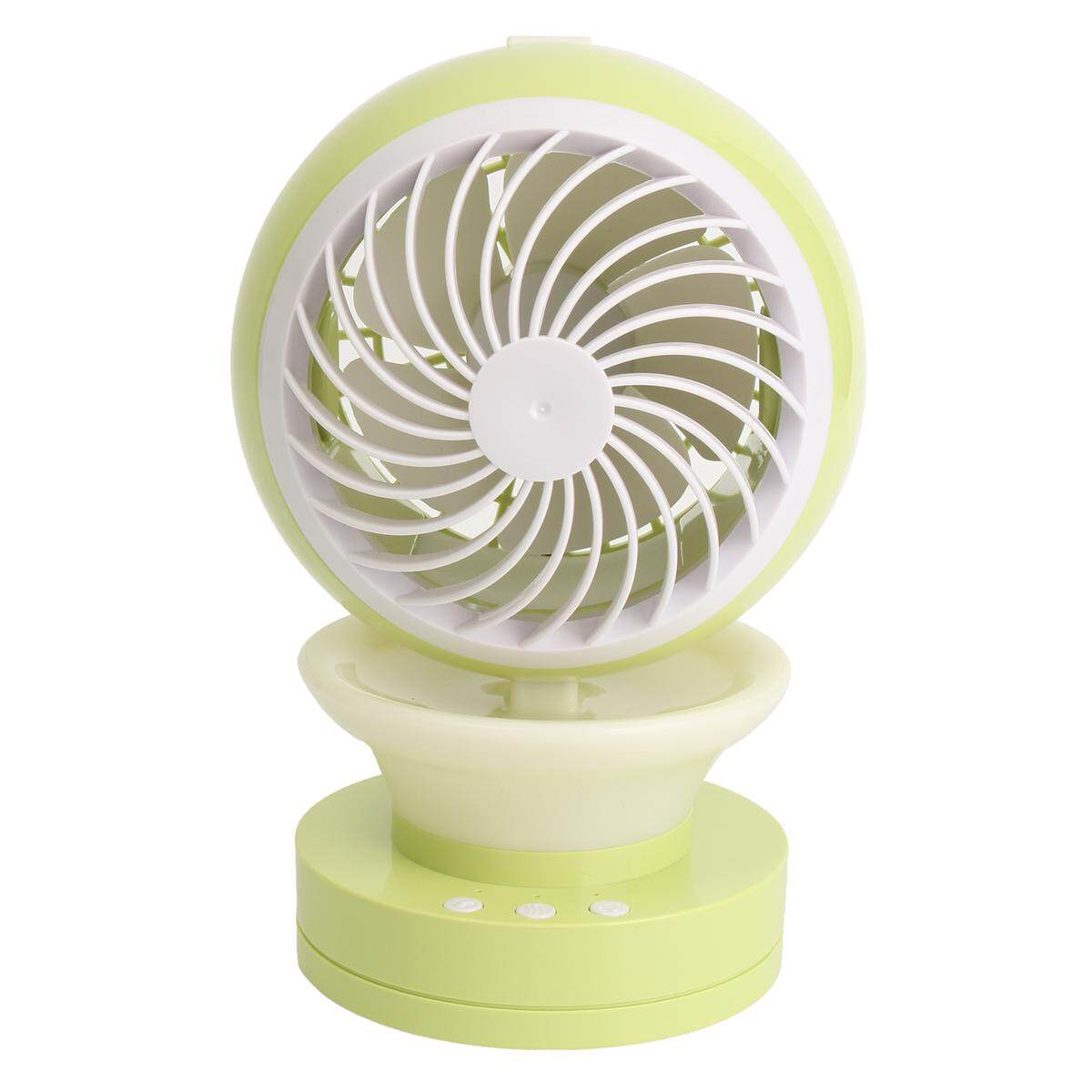 Portable Fan Humidifier USB Charging Pocket Compact Mist Spray Travel Office #green