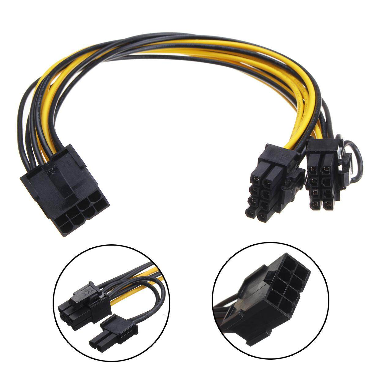 Serial Cables Buy At Best Price In Singapore Www Adapters Usb 20 1m Dual Power Cable 8pin To 8 6 2 Pin Video Vga Card Supply Adapter
