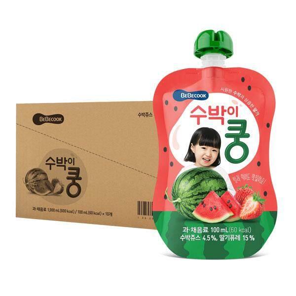 BeBecook - Value Box of 10 x Strawberry & Watermelon Juice