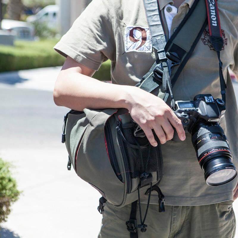 CADEN Bahu Selempang Cross Tas Kamera Sarung Kamera Digital Sling Kanvas Lembut Pria Tas Wanita untuk Perkakas Bertualang K1