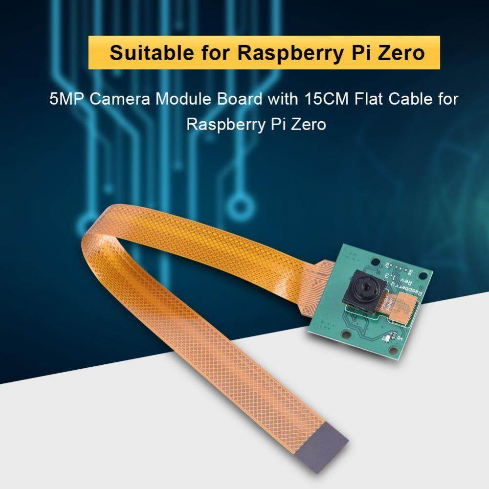 5MP Kamera Modul Lensa Papan With 15 Cm Datar Kabel To Raspberry Pi Zero-Internasional