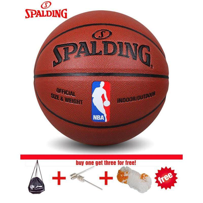 The cheapest price original basketball bola basket spalding original basketball bola basket spalding basketball 74 602y size7 pu leather with net bag pin thecheapjerseys Images
