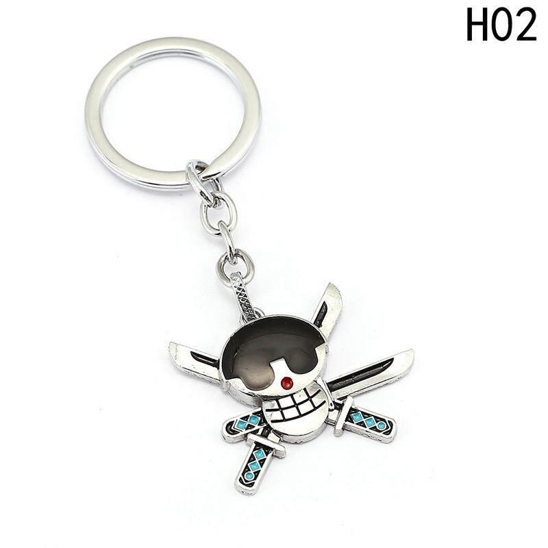 Fancyqube 1 ชิ้นพวงกุญแจกระเป๋าเสน่ห์พวงกุญแจ Luffy Zoro Sanji ผู้ถือแหวนกุญแจจี้เครื่องประดับ - นานาชาติ.