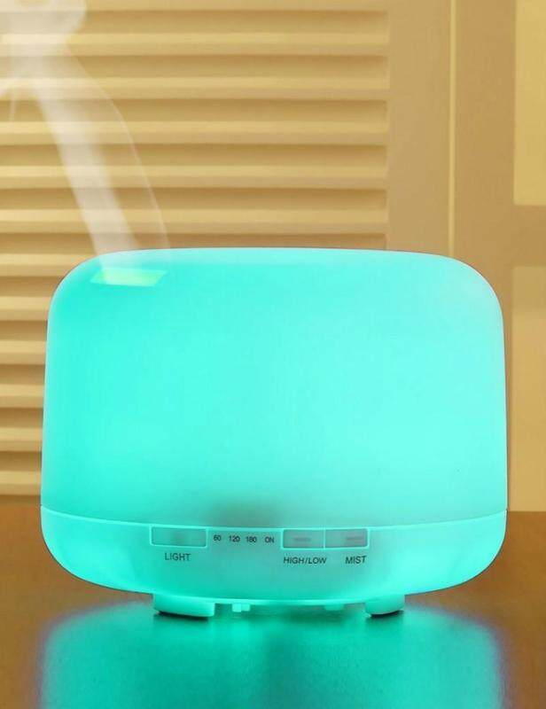 binwu Aromatherapy Essential Oil Diffuser 500ml Cool Mist and Humidifier with Warm White LED Lights for Home Office and Spa Singapore