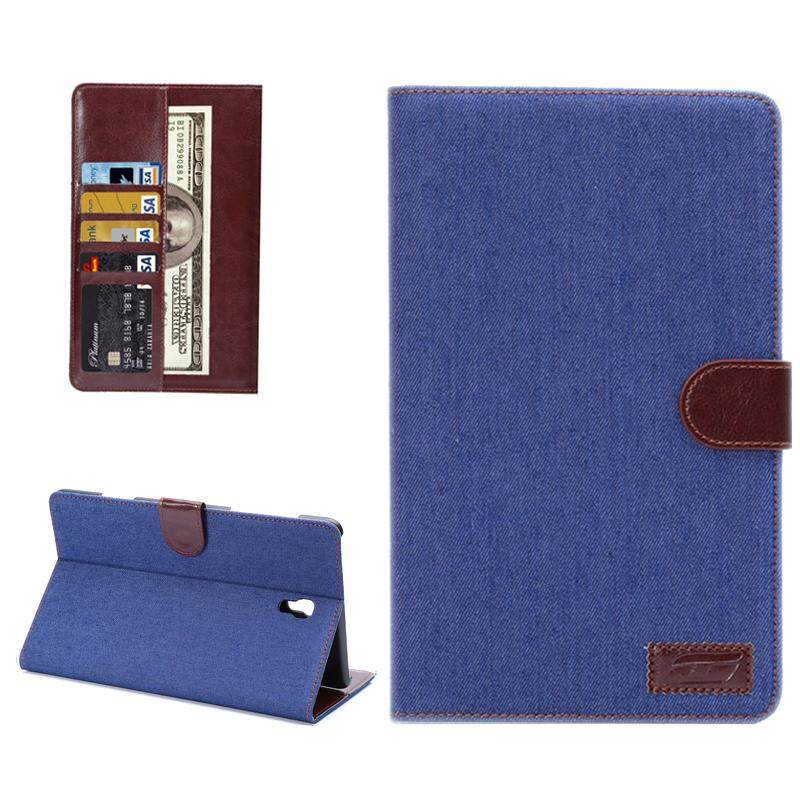 Denim Texture Horizontal Flip Leather Case With Card Slot Wallet Holder For Samsung Galaxy Tab S 8 4 T700 Blue Intl Promo Code