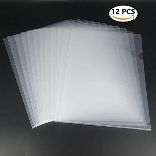 L-type Folder Plastik Safe Project Pockets Transparan Bening Dokumen Folder 12 Pcs untuk A4 Paperplastic Kertas Lengan Jaket dalam Berbagai Macam Project Folders-Internasional