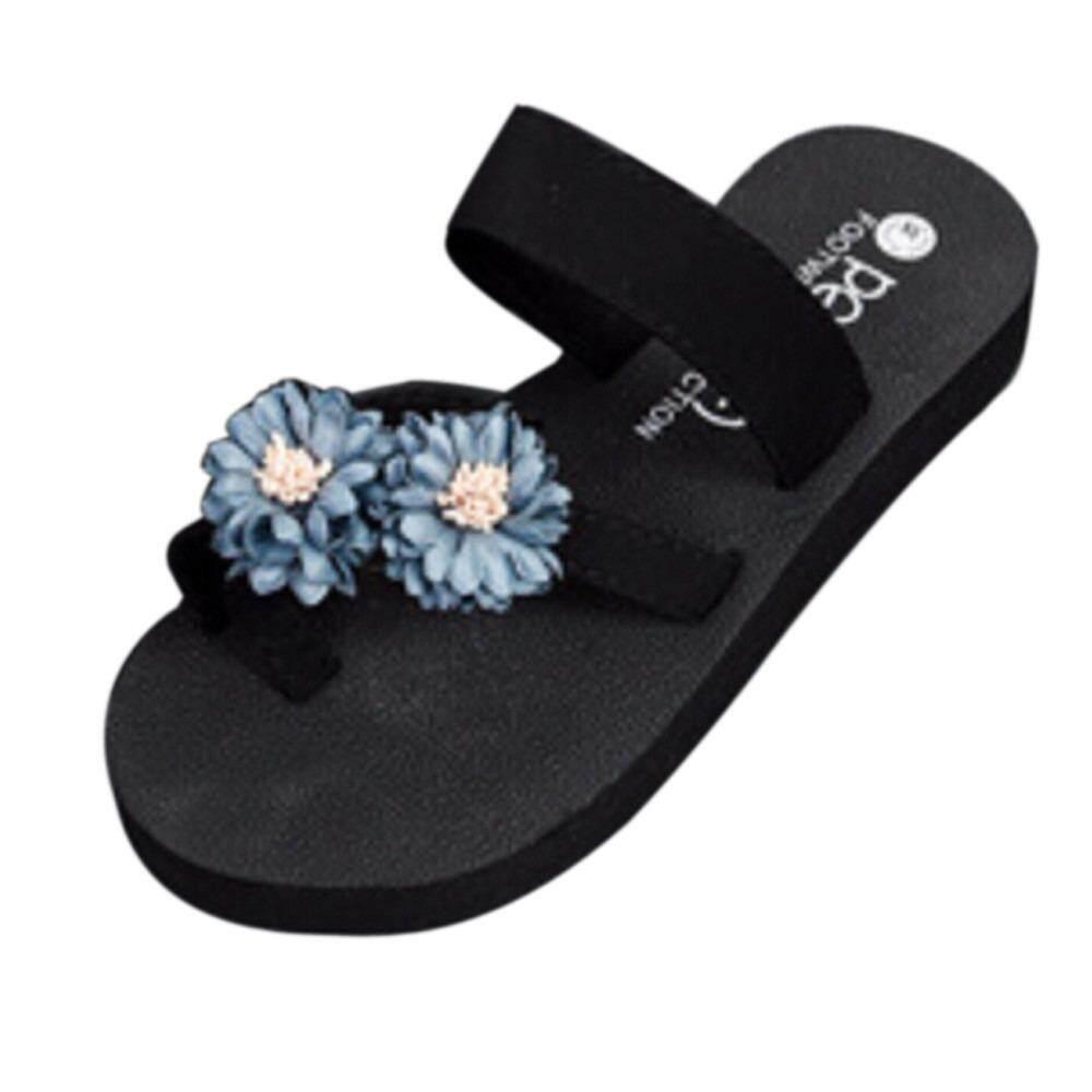 Musim Panas Sepatu Pantai Platform Sandal Mandi Sandal Hak Tinggi Sendal Sepatu Wanita .