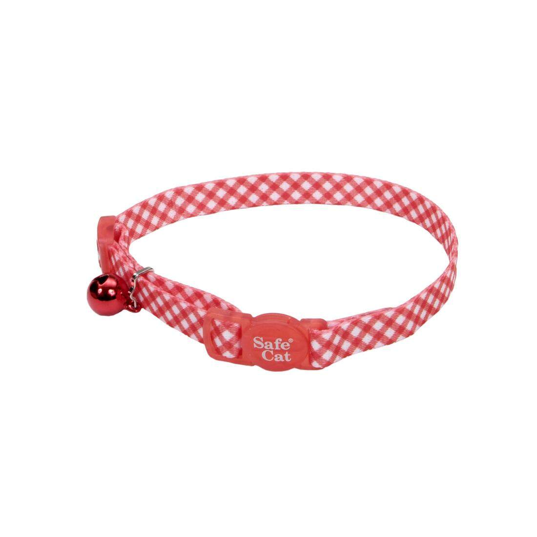 [Coastal] Safe Cat Fashion Adjustable Breakaway Collar - Polka Dot Pink