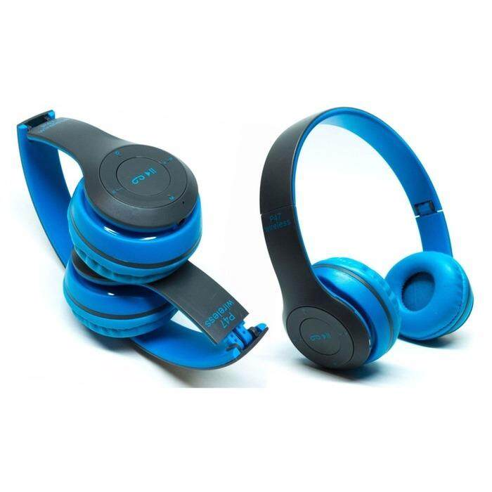 P47 Bluetooth 4.1 Headphone Wireless Headband Earphone BLUE
