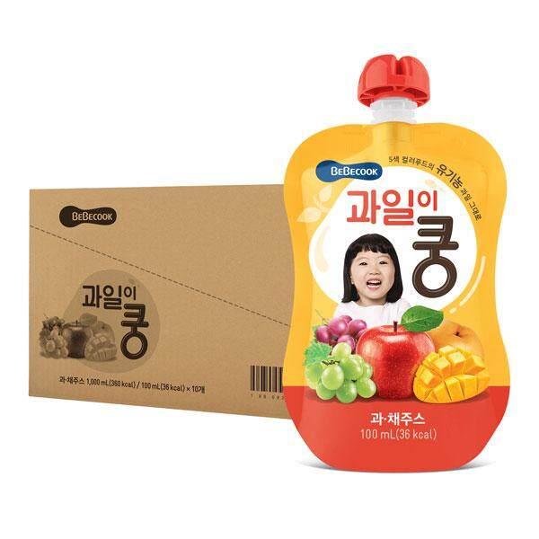 BeBecook - Value Box of 10 x Organic Mixed Fruit Juice