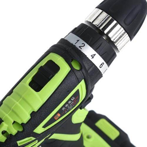 SUNTOL 12V ELECTRIC SCREWDRIVER LITHIUM-ION BATTERY DRILL (BLACK AND GREEN)