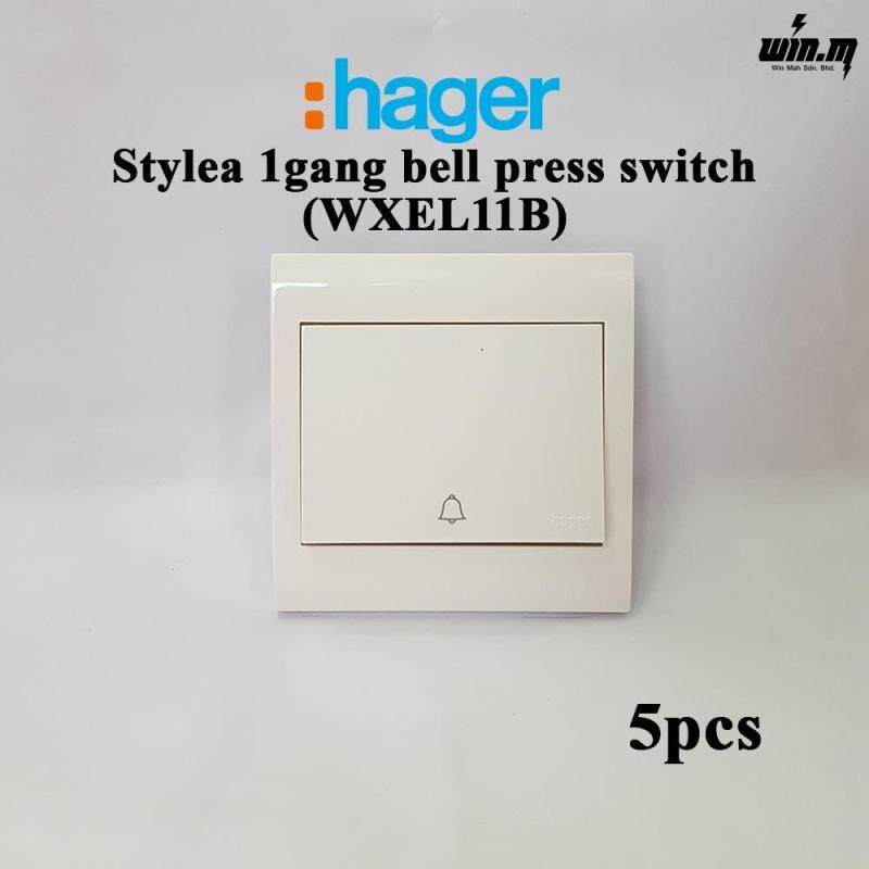 (5PCS) Hager Stylea Bell Switch WXEL11B
