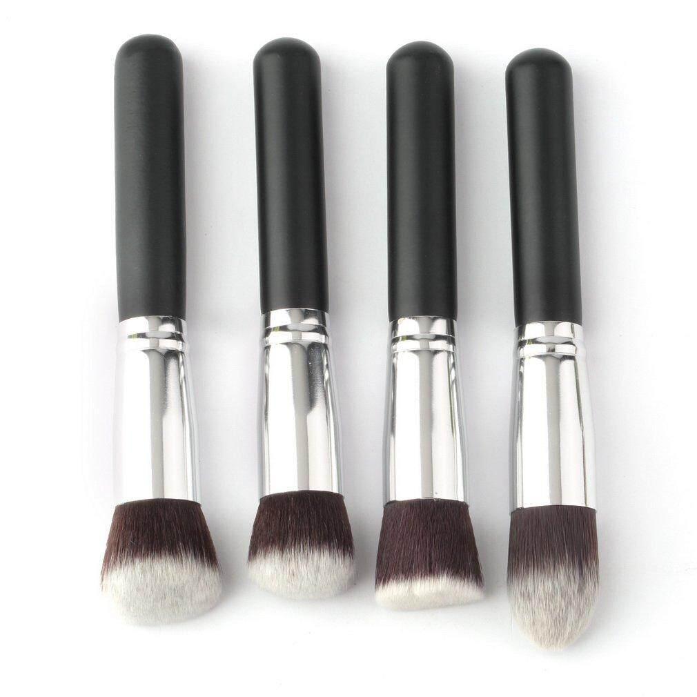 Beau Profesional 4 Pcs Set Hitam Sintetis Kuas Riasan Kosmetik-Internasional