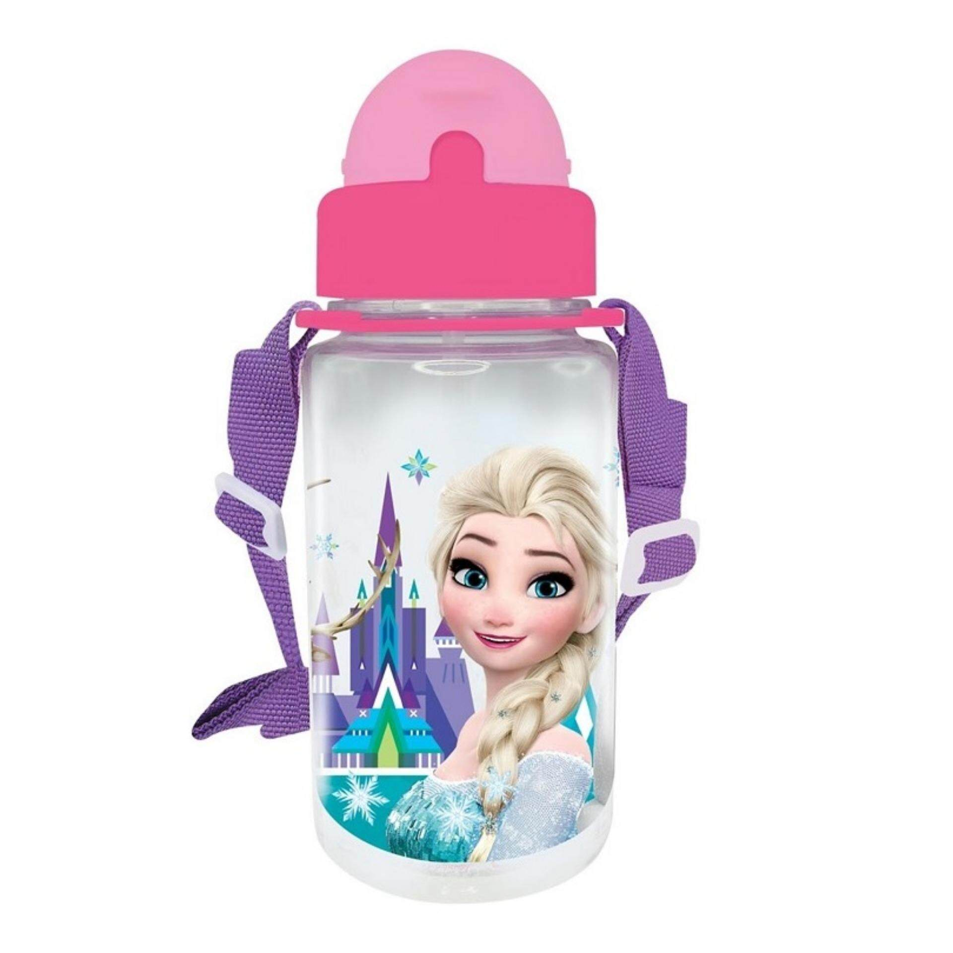 Disney Princess Frozen BPA Free 350ML Tritan Bottle With Straw - Pink Colour