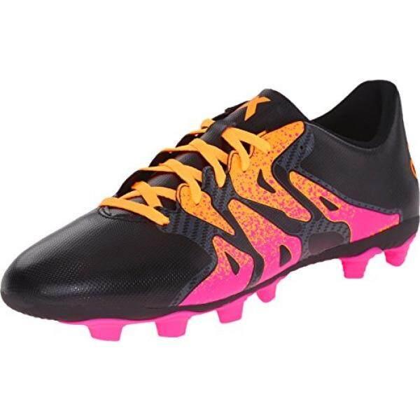Adidas Performa Pria X 15.4 Sepatu Sepak Bola, Hitam/Guncangan Merah Muda/Emas, 12 M AS-Internasional