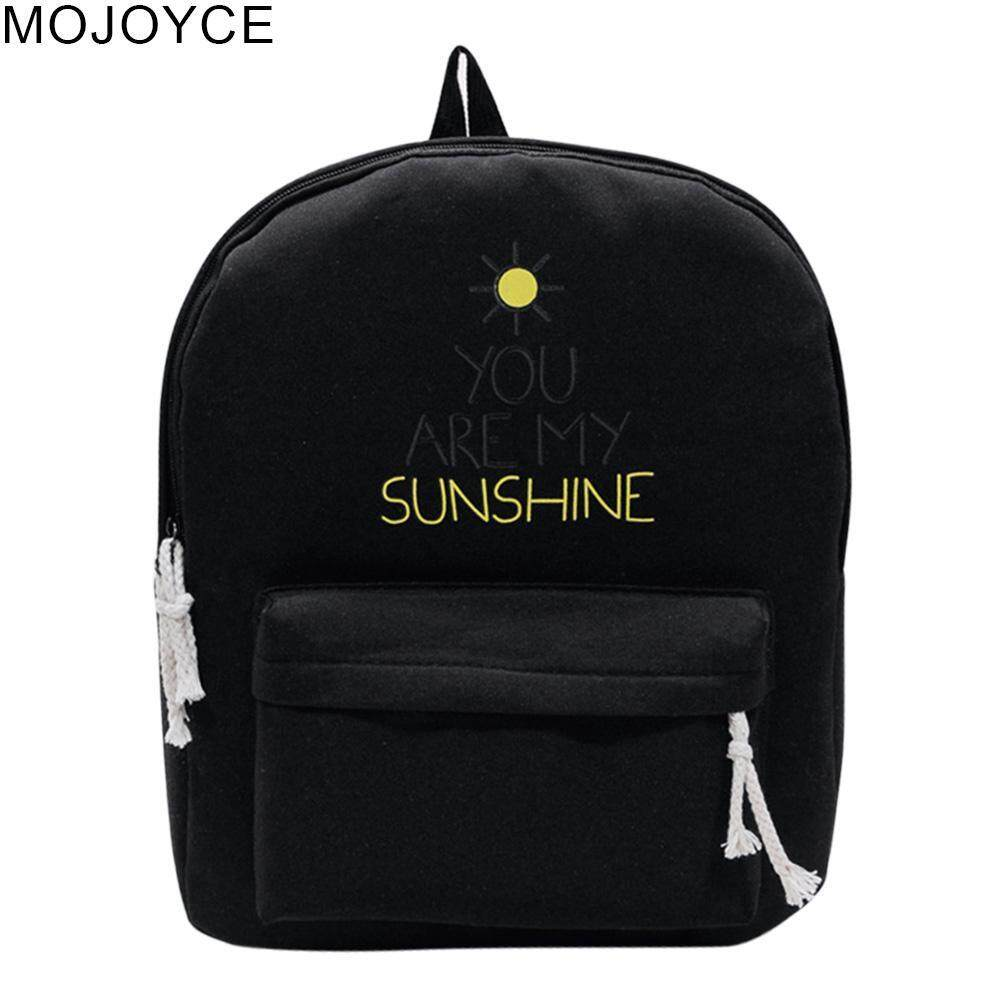 MOJOYCE Fashion Canvas Letter Printing Women Girl Backpack Preppy Style School Bag Philippines