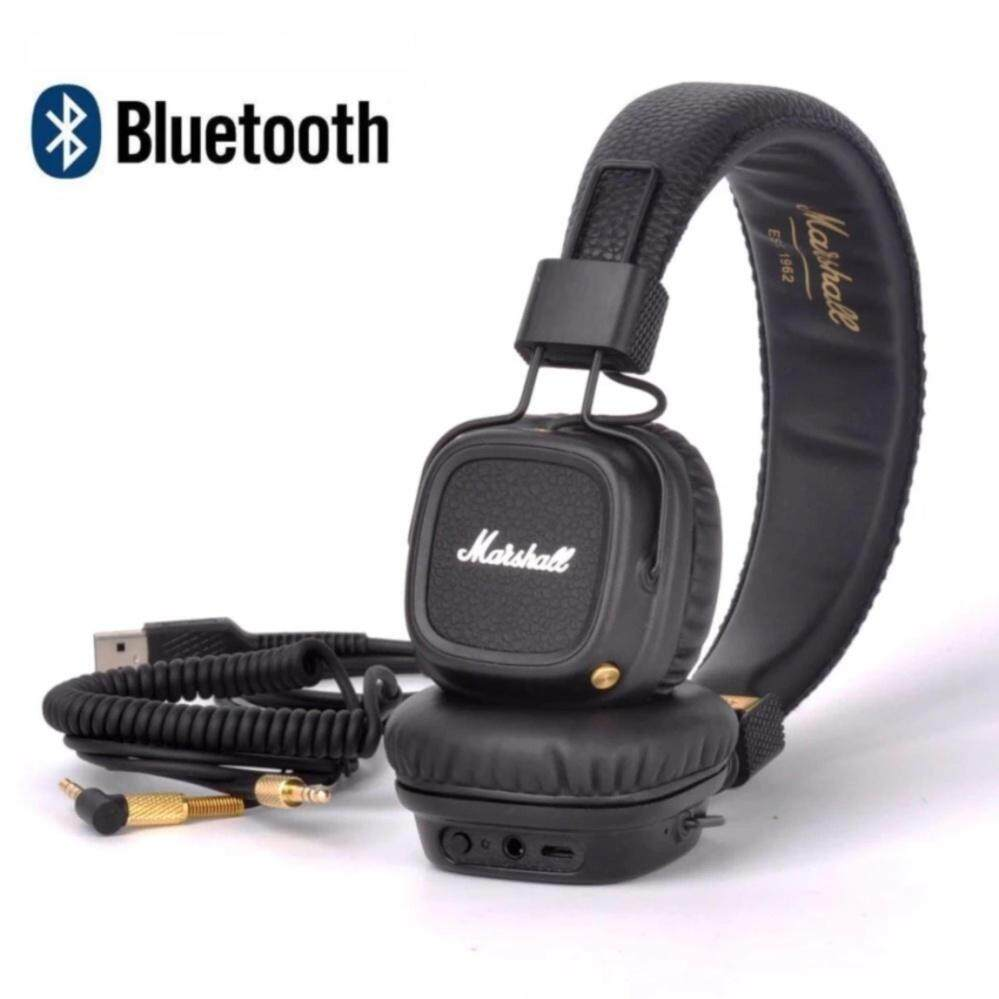 Sale Marshali Major Ii Bluetooth Wireless On Ear Headphones Brown And Black Intl Online China