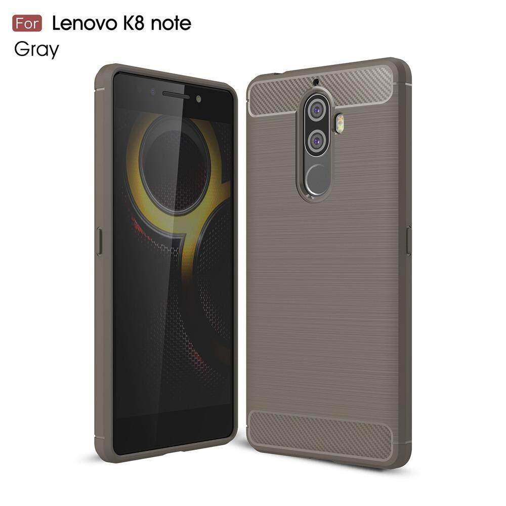 Keysion Telepon Case untuk Lenovo K8 Catatan Serat Karbon Lembut TPU Silikon Gosok Anti Benturan Sarung Belakang untuk Lenovo k8 Catatan-Internasional