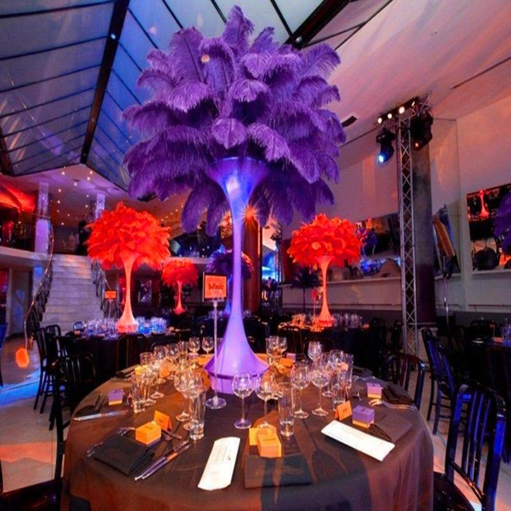 1 Pcs Hiasan Bulu Burung Unta Pusat Pernikahan Dekorasi Rumah Pesta 30-35 Cm-
