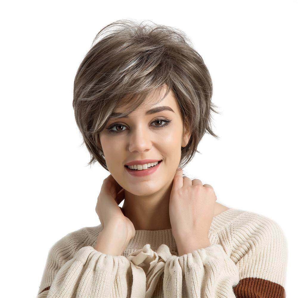 Fashion Wig Short Haircut Wigs Short Human Hair Synthetic Wig PS Wig Cap Erpstore - intl