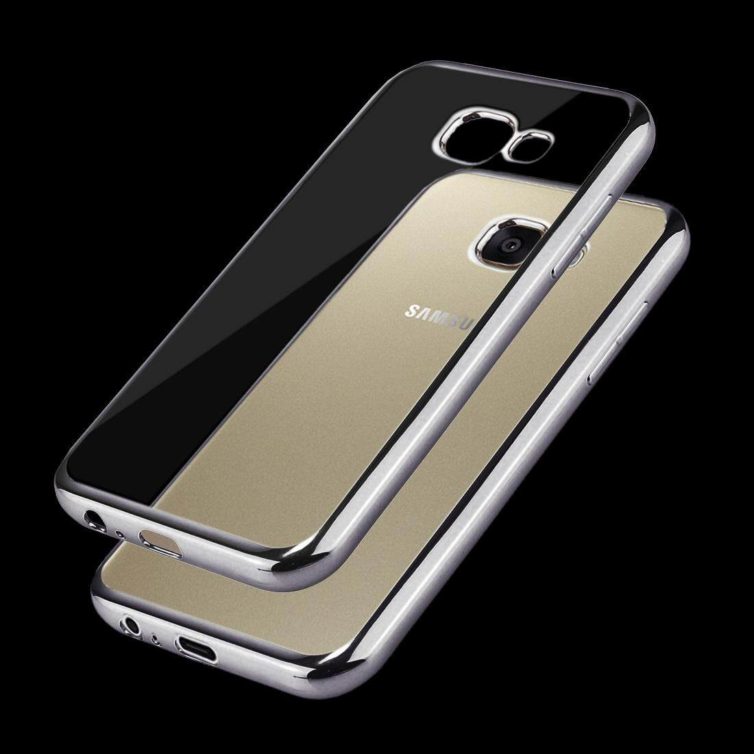 Features For Samsung Galaxy C9 Pro C900 Living Group Pattern A3 2017 A320 Electroplating Frame Soft Tpu Protective Case