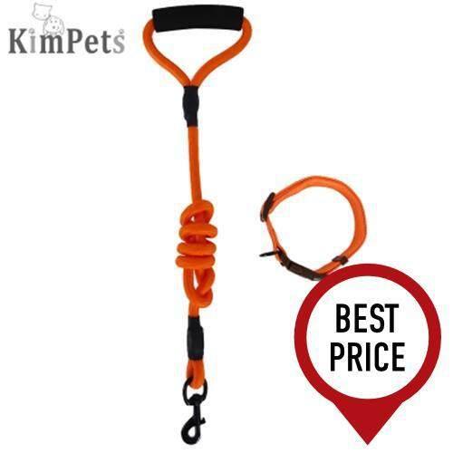 KIMPETS THREE-PIECE SUIT PET HARNESS LEASH (ORANGE)