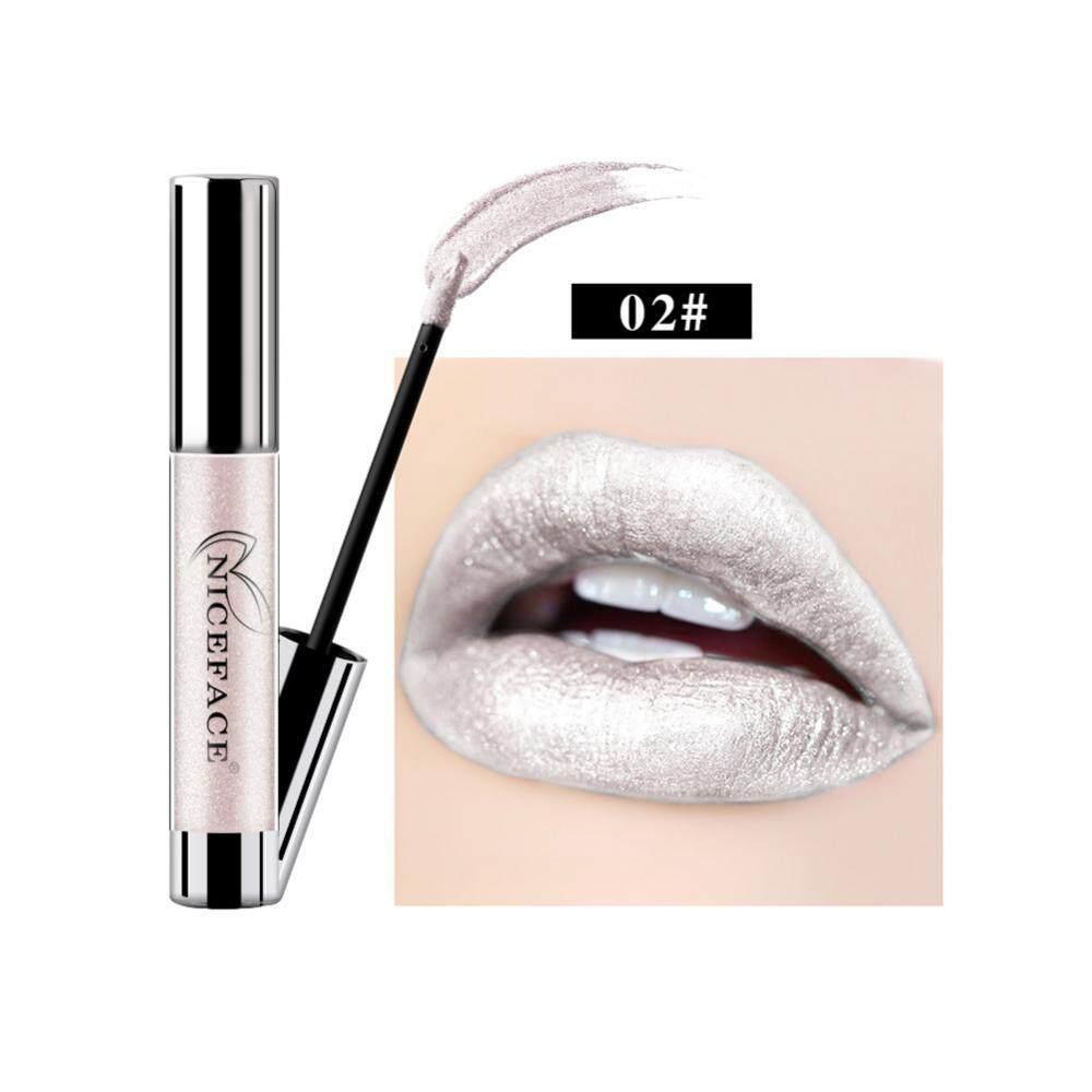 Gambar Produk Rinci NICEFACE 7 Warna Metalik Bibir Gloss Logam Liquid Lipstik Anti-Air Warna Tidak Mengkilap Lipstik Metalik-Internasional Terkini