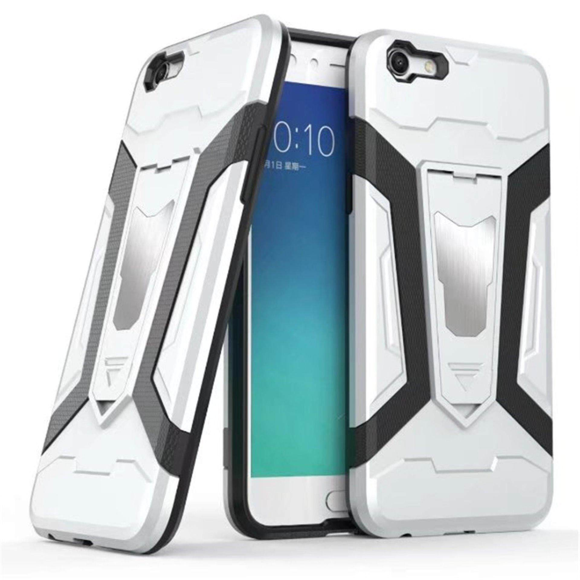 Cek Harga Iron Hard Man Armor Dual Phone Back Cover Case With Oppo F1s A59 3 In 1 Plated Rubber Coating Gold A77 Tactical Grip Kickstand Shockproof Bumper Shell Full Body